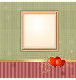 wallpaper retro frame vector image vector image