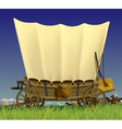 Wild West covered wagon vector image