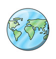 world map sphere icon vector image