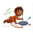 Zodiac sign SAGITTARIUS African American kid vector image vector image
