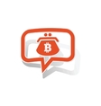 Bitcoin purse message sticker orange vector image