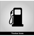 gas station on white background - icon vector image