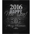 2016 Happy New Year and card Merry Christmas card vector image