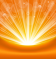 abstract orange background with sun light rays vector image vector image
