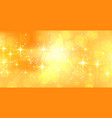 abstract sparkling yellow banner with text space vector image vector image