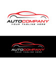 automotive logo vector image vector image