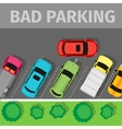 Bad Parking Top View vector image vector image