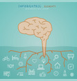 brain infographic elements with developement vector image vector image