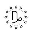 capricorn sign of the zodiac flat symbol vector image
