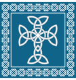 Celtic crosssymbolizes eternity vector image vector image