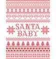 christmas pattern santa baby carol seamless vector image vector image