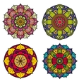 Color mandalas indian and chinese floral vector image vector image