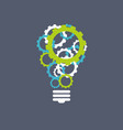 creative technology concept blue green gears vector image