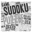 daily sudoku text background wordcloud concept vector image vector image