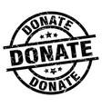 donate round grunge black stamp vector image vector image