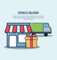 express delivery design vector image vector image