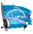 fishing rod and float for fishing vector image vector image