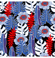 floral and tropical seamless pattern vector image vector image