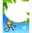 Frame with monkey vector image vector image