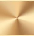 gold plate with a conical gradient vector image vector image