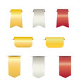 golden price tag with ribbons vector image