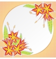Greeting card with orange flowers vector image vector image