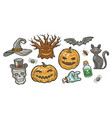 halloween symbol set holiday decorations vector image vector image