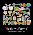 healthy lifestyle badges patch fashion collection vector image vector image