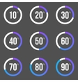 Infographic progess bars vector image vector image