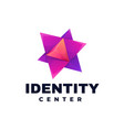logo identity center gradient colorful style vector image