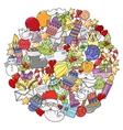 Merry christmas mandala set of xmas colorful vector image vector image