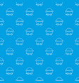 mining cart pattern seamless blue vector image vector image