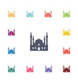 mosque flat icons set vector image