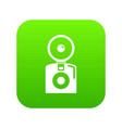 oldschool camera icon green vector image