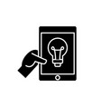 online idea black icon sign on isolated vector image