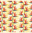 pattern with bird of paradise flower - tropical vector image vector image