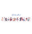 people dancing lindy hop swing or jazz dance of vector image vector image