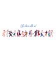 people dancing lindy hop swing or jazz dance vector image