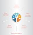pie infographic 5 vector image vector image