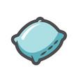 pillow sleep aid icon cartoon vector image