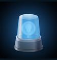 realistic flasher siren vector image