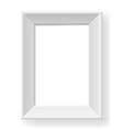 Realistic white frame vector image vector image