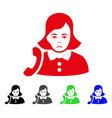 sad receptionist woman icon vector image