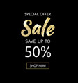 sale black poster vector image vector image