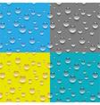 Seamless water drop pattern vector image