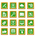 seo icons set green vector image vector image
