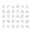 set line icons wedding vector image vector image