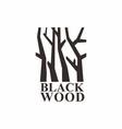 sign logo black woods vector image vector image
