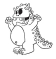 simple black and white monster cartoon vector image vector image