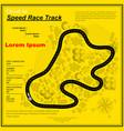 six yellow race circuit background vector image vector image